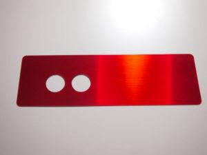 赤ヘアライン 銘板1