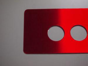 赤ヘアライン 銘板2